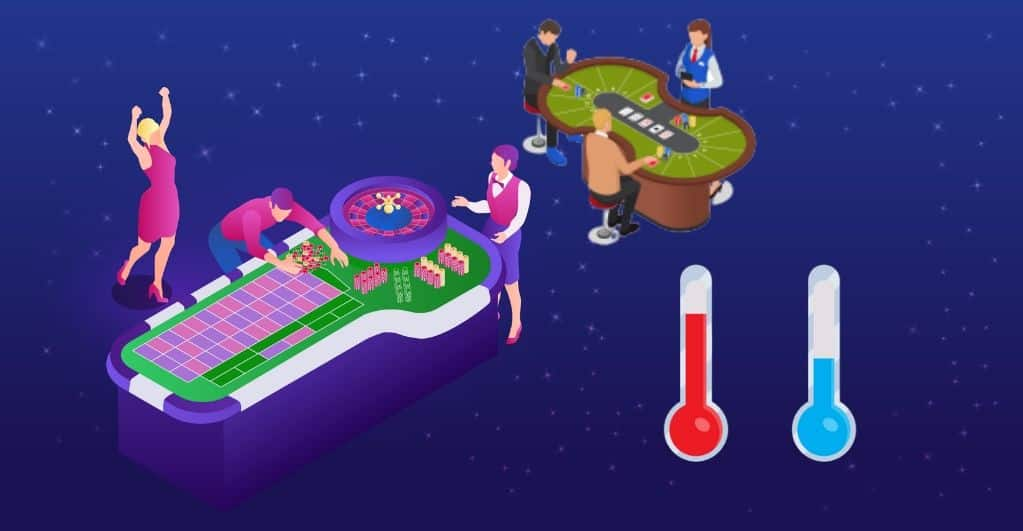 Decoding Hot and Cold Tables in Casino Gambling